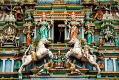 Hindoese tempel in Kuala Lumpur Maleisië stock afbeeldingen