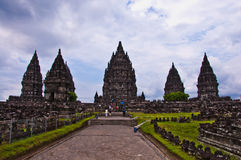 Hindoese tempel Prambanan. Indonesië Stock Afbeelding