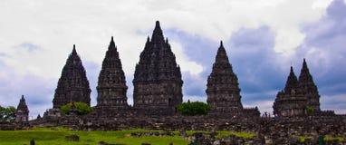Hindoese tempel Prambanan. Indonesië Royalty-vrije Stock Foto