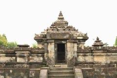 Hindoese tempel Sambisari - bovenkant van centraal deel stock foto's