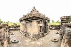 Hindoese tempel Sambisari - bovenkant van centraal deel royalty-vrije stock fotografie