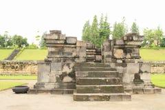 Hindoese tempel Sambisari - zijtempel stock fotografie