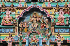 Hindoese Tempel, Singapore Royalty-vrije Stock Foto's