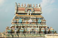 Hindoese Tempel SriRangam in Tiruchirapalli, India royalty-vrije stock fotografie