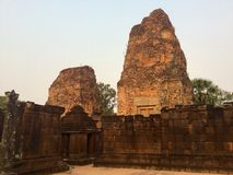 Hindoese tempelruïnes Prerup, Angkor Wat, Kambodja royalty-vrije stock foto's