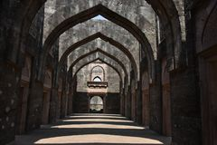 Hindola Mahal, Mandu, Madhya Pradesh. India stock photo