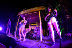 Hinds (band) in concert at Vida Festival Stock Image