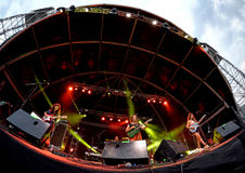 Hinds (band) in overleg bij FIB Festival Stock Foto's