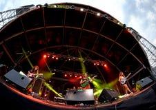 Hinds (bande) de concert au festival de BOBARD Photos stock
