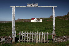 Hindsvik Dorf Stockfotografie
