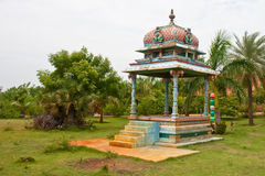 Hindu Altar. Altar in the garden of a tropical resort in Tamil Nadu, India Royalty Free Stock Images