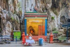 Hindu altar at Batu Caves temple Stock Photo