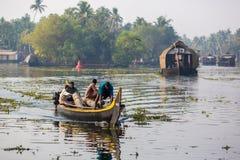 Hindu on a boat Royalty Free Stock Image