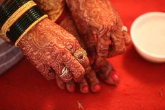 Hindu Bride Traditions Royalty Free Stock Images