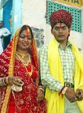 Hindu bride and husband Royalty Free Stock Photos