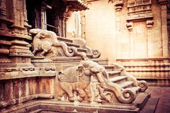 Hindu Brihadishvara Temple. South India Royalty Free Stock Image