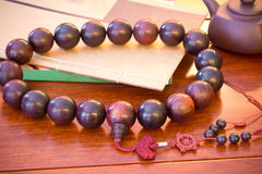 Hindu and buddhist. Prayer beads Stock Photography
