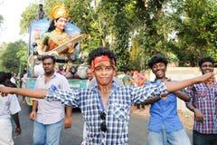 Hindu carnival festival of Kollam Stock Photo
