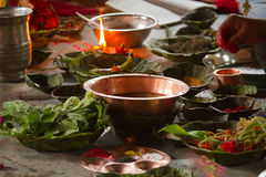 Hindu ceremony in Nepal, Shivaratri Royalty Free Stock Image