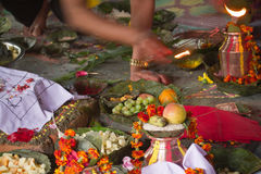 Hindu ceremony in Nepal, Shivaratri Royalty Free Stock Photo