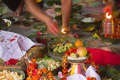 Hindu ceremony in Nepal, Shivaratri Royalty Free Stock Photography
