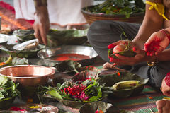 Hindu ceremony in Nepal, Shivaratri Royalty Free Stock Photos