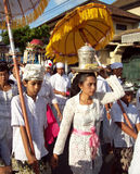 Hindu ceremony on the streets of Ubud Royalty Free Stock Photo