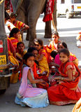 Hindu children in India Royalty Free Stock Photo