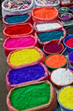 Hindu colors. Used for religious purpose, on a market in Thamel, Katmandu. Nepal Stock Photography