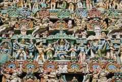 Hindu colourful sculpture Stock Photos
