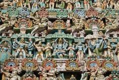 Hindu colourful sculpture Stock Photos