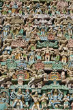 Hindu colourful sculpture Royalty Free Stock Image