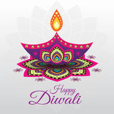 Hindu community festival Diwali. Beautiful greeting card for Hindu community festival Diwali Stock Images