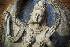 Hindu deitie. Unknown Hindu deities, photographed in the Russian park of world cultures, Ethnomir Stock Photography