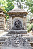 Hindu deities carved in stone Stock Photo