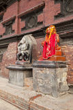 Hindu Deities at Patan Durbar Square, Nepal Stock Image
