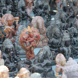 Hindu deities statuettes. Close-up of Hindu deities little statuettes on the Indian market Royalty Free Stock Photography