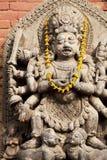 Hindu Deity at Bhaktapur Durbar Square, Nepal Stock Photo