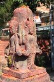 Hindu Deity at Bhaktapur. royalty free stock photo