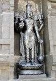 Hindu Deity Black Stone Sculpture stock photos