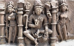 Hindu Deity Central India. Ancient Stone Carvings of Central India depicting Hindu Deity. These idols found during excavations in different areas of Western Stock Photos
