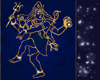 Hindu deity lord Shiva on a sparkling background Stock Photography