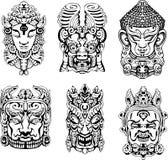 Hindu deity masks Stock Photo