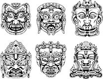 Hindu deity masks Royalty Free Stock Photos
