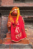 Hindu Deity at Patan Durbar Square, Nepal Stock Images