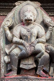Hindu Deity at Patan Durbar Square, Nepal Stock Photography