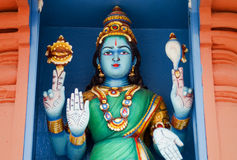 Hindu deity at Sri Mariamman Temple in Singapore Royalty Free Stock Images