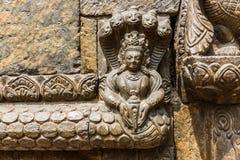 Hindu deity stone relief Stock Photo