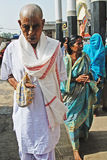 Hindu Devotee. March 08,2012 Mayapur,Nadia,West Bengal,India,Asia- A Hindu devotee walking in the temple Stock Photography