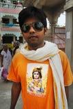 Hindu Devotee. March 08,2012 Nabadwip,Nadia,West Bengal,India,Asia- A portrait of Hindu devotee-inspired by the Chaitanya or Gauranga Mahaprabhu Stock Image
